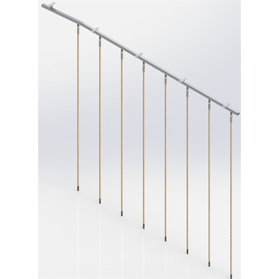 Image for Ceiling Mounted Rope Trackway,  8 ropes