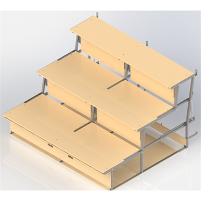 Image for Foldable  Bleachers UNISPORT, 3-rows