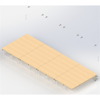 Image for Wall Bar Stage  UNISPORT,  4  modules