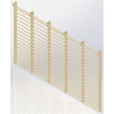 Image for Wall Bars 19-bars DK 2510 mm 5 Modules