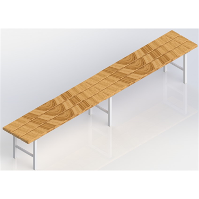 Image for Free-standing sitting bench  2000