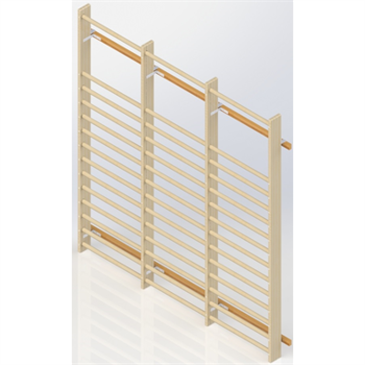 Image for Wall Bars UNISPORT High 2475 mm 3 Modules