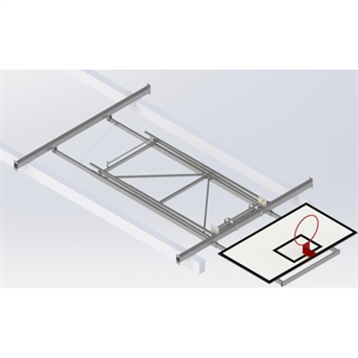 Image for Roof Mounted Matchplay Basketball Goal 6,8-7,6m, Timber backboard 1800x1050 mm Forward hoisted