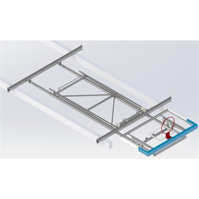 Image for Roof Mounted Matchplay Basketball Goal 6,8-7,6m, Acrylic backboard 1800x1050 mm Forward hoisted