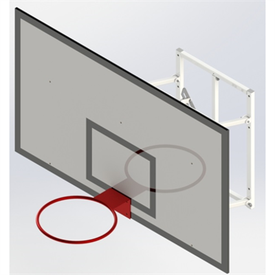 Image for Upward Hinged, Practice Basketball Goall UNISPORT 800
