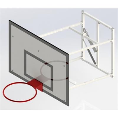 Image for Upward Hinged, Practice Basketball Goall UNISPORT  1200