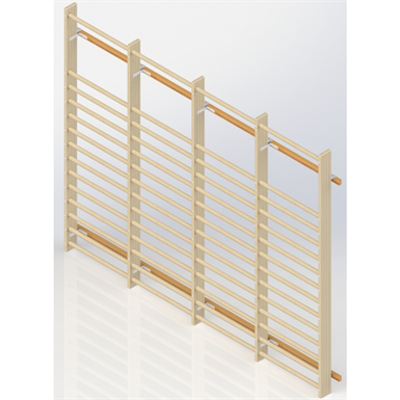 Image for Wall Bars UNISPORT High 2475 mm 4 Modules