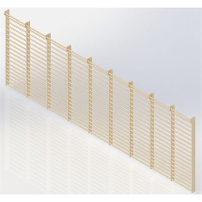 Image for Wall Bars 19-bars DK 2510 mm 9 Modules