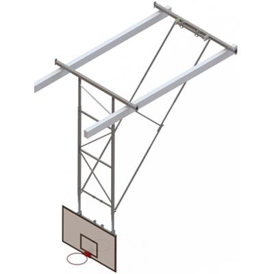 Image for Roof Mounted Matchplay Basketball Goal 8,1-8,5m, Timber backboard 1800x1050 mm Backward hoisted