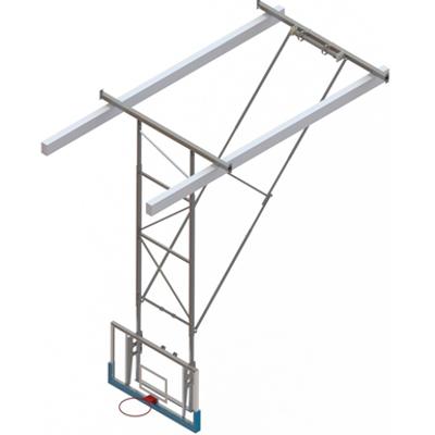 Image for Roof Mounted Matchplay Basketball Goal 8,1-8,5m, Acrylic backboard 1800x1050 mm Backward hoisted