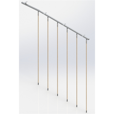 Image for Ceiling Mounted Rope Trackway,  6 ropes