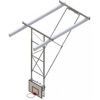 Image for Roof Mounted Matchplay Basketball Goal 8,1-8,5m, Timber backboard 1200x900 mm Backward hoisted