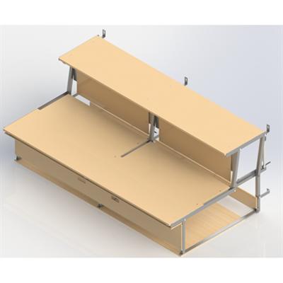 Image for Foldable  Bleachers  UNISPORT, 2-rows