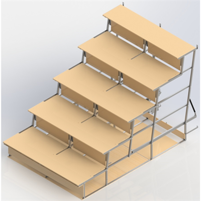 Image for Foldable  Bleachers UNISPORT, 5-rows, motorized