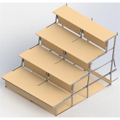 Image for Foldable  Bleachers UNISPORT, 4-rows