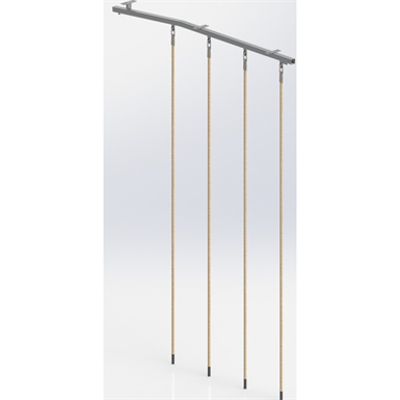 Image for Ceiling Mounted Rope Trackway,  4 ropes