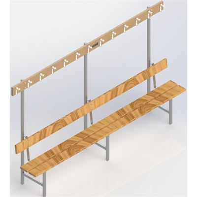 Image for Free-standing bench 2500 mm