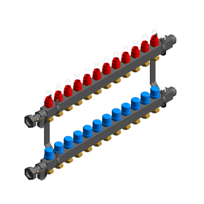 UFH - UNDERFLOOR HEATING MANIFOLD - STAINLESS STEEL 이미지