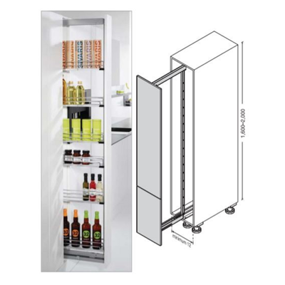 Image for HAFELE Cabinets Pull-Out Pantry Dispensa-150