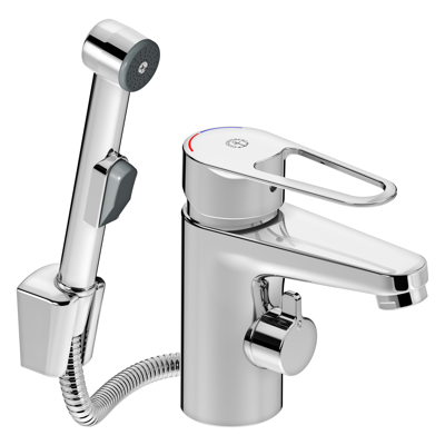 Image for Washbasin mixer New Nautic, shut off and side spray