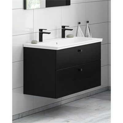 Image for Bathroom Vanity unit Artic with two tap holes - 100 cm