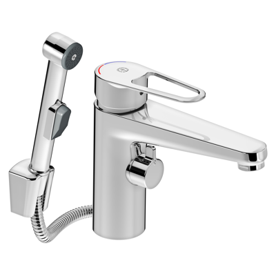 Image for Washbasin mixer New Nautic, 150 mm spout, shut off and side spray