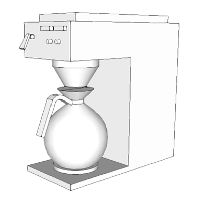 изображение для K1552 - Brewer, Coffee, Auto, Elect, 3 Burner, Front/Back