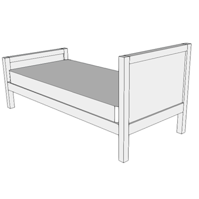 Image for F2405 - Bed, Non-medical, Single