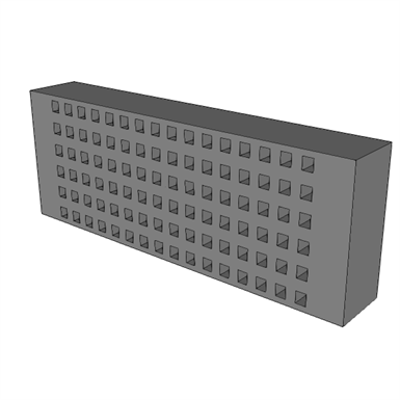 Image for A0910 - Patch Panel, 110 Block/RJ-45, Cat 5E, 96 Port,568A