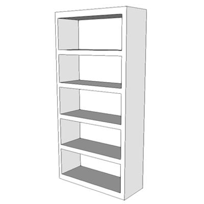 Image for F0115 - Bookcase, Open, 5 Shelf