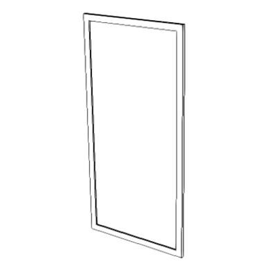 Imagem para A1085 - Mirror, SS, With SS Frame}