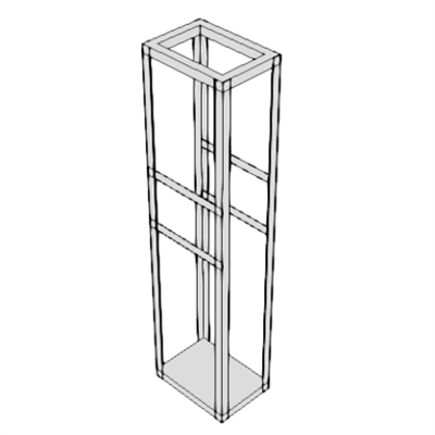 Image for A0900 - Relay Rack, Aluminum