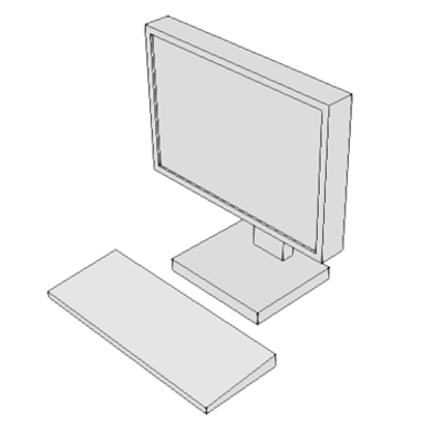 Image pour M1801 - Computer, Microprocessing, w/Flat Panel Monitor