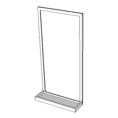 Imagem para A1090 - Mirror, Float Glass, With SS Frame & Shelf}