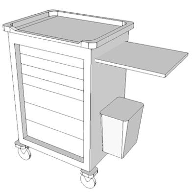 Image for E0957 - Cart, Medication, Mobile