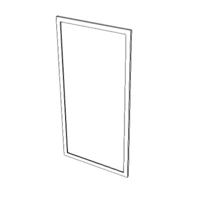 Imagem para A1066 - Mirror, Float Glass, With SS Frame}