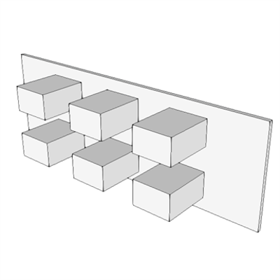 Image for A0906 - Adapter Panel With Couplers, Yellow, 6 Port, SM/MM