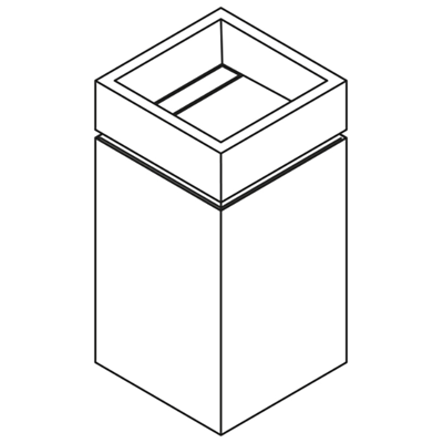 Image for Delight  DLQ50L - DLQ50G- DLQ50R free-standing washbasin