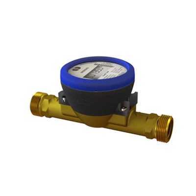 kép a termékről - flowIQ®3100, Q3=2,5 m³/h, G1B (R¾)x190 mm, Q3/Q1=100, water meter