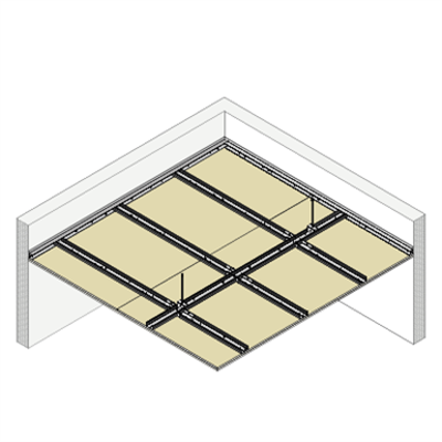 Image for 4.4.3 CEILINGS - Suspended twin frame T-60 (H)