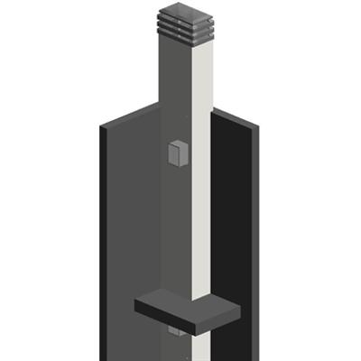 Image for Schiedel REI PANNEL Filtri Fumo REI 120 Sistema Doppio Ramificato 3530 con rivestimento su due lati