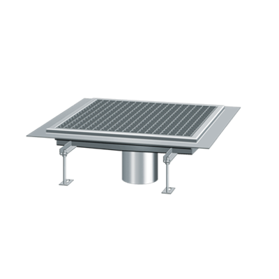 Image for KESSEL-Square channel drain 6035035 stainless steel, B: 350, L: 350, H: 60