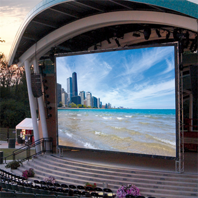Image for Lace & Grommet Fixed Projection Screen