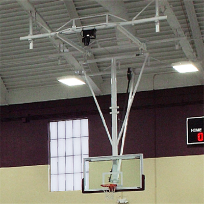 Image for TB-25R Ceiling-Suspended Rear Folding Basketball Backstop