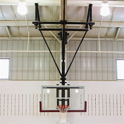 Image for TF-20 Ceiling-Suspended Forward Folding Basketball Backstop