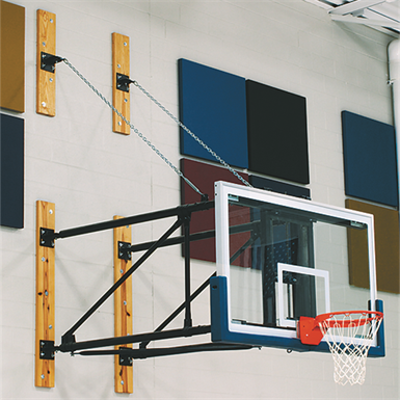 Image for DGW Wall-Mounted Side Folding Basketball Backstop
