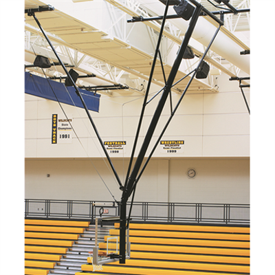Image for TF-20S Ceiling-Suspended Forward Folding Basketball Backstop