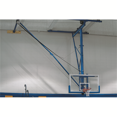 Image for TBS-26B Ceiling-Suspended Side Folding Basketball Backstop