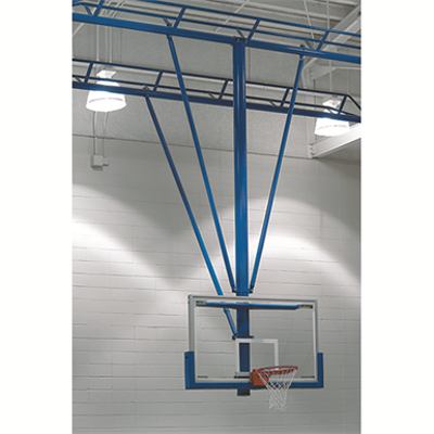 Image for TS-21 Ceiling-Suspended Stationary Basketball Backstop