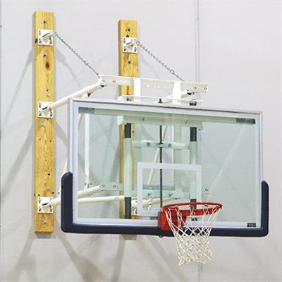Image for DGW-E Wall-Mounted Side-Folding Basketball Backstop